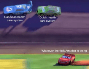 Us system rigged: 43  Canadian health  Dutch health  care system  care system  Whatever the fuck America is doing Us system rigged