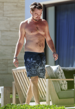 43 Year old Leonardo DiCaprio in a swimsuit, 2017.: 43 Year old Leonardo DiCaprio in a swimsuit, 2017.
