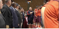 Virginia Tech Basketball Coach Buzz Williams brought in veterans to teach his team about the importance of respecting the national anthem. SHARE to help circulate this message!: 44:44a Virginia Tech Basketball Coach Buzz Williams brought in veterans to teach his team about the importance of respecting the national anthem. SHARE to help circulate this message!