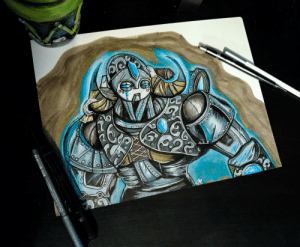 Overlord, Overwatch, and Drawing: 4511338022658  eegan a 1ON NaHM dY3R Overwatch Orisa / Draugr Overlord Drawing