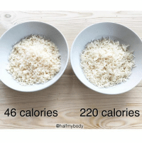 "Cauli rice + White rice 🍚 caloriefixes I love rice too, but sometimes this low carb and low calorie alternative is great as I calorie count✏️ •43g carbs vs 4g carbs for cauli• ""Cauli rice"" has been around for a while, but I was quite shocked at the macro difference when I had a look today! 140g for reference✔️ Hope everyone's having a nice weekend😘 P.S. I love 🔍 these calorie swaps! Fxx . . . . . healthychoices healthyliving foodshare mealprep caloriecounting calories rice recipes whole30 detox slimmingworlduk slimmingworld dieting diet losingweight fatloss fattofit weightlossjourney weightlossmotivation weightlosstransformation weightloss bodytransformation myfitnesspal weightwatchers weightloss fitbit keto lifestylechange: 46 calories  220 calories  @halfmybody Cauli rice + White rice 🍚 caloriefixes I love rice too, but sometimes this low carb and low calorie alternative is great as I calorie count✏️ •43g carbs vs 4g carbs for cauli• ""Cauli rice"" has been around for a while, but I was quite shocked at the macro difference when I had a look today! 140g for reference✔️ Hope everyone's having a nice weekend😘 P.S. I love 🔍 these calorie swaps! Fxx . . . . . healthychoices healthyliving foodshare mealprep caloriecounting calories rice recipes whole30 detox slimmingworlduk slimmingworld dieting diet losingweight fatloss fattofit weightlossjourney weightlossmotivation weightlosstransformation weightloss bodytransformation myfitnesspal weightwatchers weightloss fitbit keto lifestylechange"