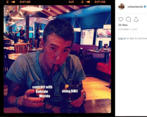 Cheers, Bahrain, and Bmc: 465  2  RUP100  3  RUP100  rohandennis  26 likes  SEPTEMBER 11, 2012  Log in to like or commer  contract with  Bahrain  using BMC  Merida Cheers!
