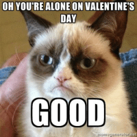 Join Grumpy Cat. for more ( :: OH YOURE ALONE ON VALENTINE'S  DAY  GOOD  nemegenerator,net Join Grumpy Cat. for more ( :