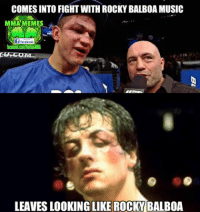 Rocky: COMES INTO FIGHT WITH ROCKY BALBOA MUSIC  MMA MEMES  if facebook  LEAVES LIKE ROCKY  BALBOA
