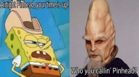 Submitted by Luke J. Reynolds: Artight Pinhead yourtime is up!  Who you callin' Pinhead? Submitted by Luke J. Reynolds
