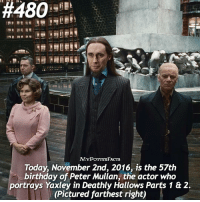 Happy Birthday Peter Mullan (aka Yaxley)! . QOTD: Who's your favorite Death Eater? 🐍💀 @forevermaddy_ @hpfashion934:  #480  MYPOTTERFACTS  Today, November 2nd, 2016, is the 57th  birthday of Peter Mullan, the actor who  portrays Yaxley in Deathly Hallows Parts 1 & 2.  (Pictured farthest right) Happy Birthday Peter Mullan (aka Yaxley)! . QOTD: Who's your favorite Death Eater? 🐍💀 @forevermaddy_ @hpfashion934