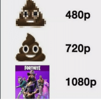 Pure form of literal shit: 480p  720p  1080p  FORTNITE Pure form of literal shit