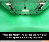Finals, Star Wars, and Star: **Spoiler Alert** The set for the new Star  Wars Episode vil finally revealed!  Handcrafted by oFush for iFunny:)  ifunny mobi Submitted by Phillip McLean