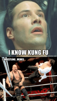 So Ricardo seemingly got unplugged from the Matrix on Raw...: I KNOW KUNG FU  meme generator net  @WRESTLING MEMES So Ricardo seemingly got unplugged from the Matrix on Raw...