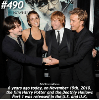 QOTD: Which is your favorite Deathly Hallows movie? 🎥🎞 . • • You can also find me on @hpfashion934 @forevermaddy_ 💜:  #490  NOWHER  INM  ACTS  6 years ago today, on November 19th, 2010,  the film Harry Potter and the Deathly Hallows  Part 1 was released in the U.S. and U.K. QOTD: Which is your favorite Deathly Hallows movie? 🎥🎞 . • • You can also find me on @hpfashion934 @forevermaddy_ 💜