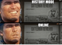 Red Dead Online in a nutshell https://t.co/95VeRFMekF: $49722  HISTORY MODE  CATTLEMAN REVOLVER  Ranchers,men.coltfemen and cattle rustlers alke THE BUC  INAL  A MILITIA FAVORITE  in ord  THE FRONTIER REVOLVER  STILL AS POPULAR AS EVER  INDEX  ONLINE  CATTLEMAN REVOLVER  015 $178  WHEEL  GINAL.  A MILITIA FAVORITE  revolvur ubaeTHE BUCK  hout the  re there  borers  order  in besuty and design that will compel y  to idisplay tat weditings funerals  PACES CO  VIEW  THE FRONTIER REVOLVER  STILL AS POPULAR AS EVER Red Dead Online in a nutshell https://t.co/95VeRFMekF