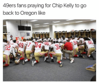 Chip Kelly, Nfl, and Oregon: 49ers fans praying for Chip Kelly to go  back to Oregon like