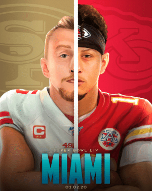 .@49ers vs. @Chiefs. It's on. #SBLIV #NFLPlayoffs  #WeReady https://t.co/m5amomo7Rr: .@49ers vs. @Chiefs. It's on. #SBLIV #NFLPlayoffs  #WeReady https://t.co/m5amomo7Rr