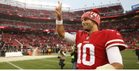 """San Francisco 49ers, Memes, and Time: 49ERS """"We want Jimmy (Garoppolo) to be a Niner for a long, long time."""" https://t.co/VqGbwqNCV2 https://t.co/0tFR2BftjK"""
