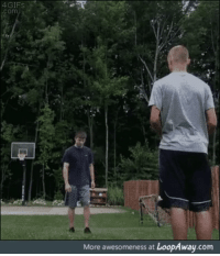 Somersault kick into basketball hoop: 4GIFS  om  More awesomeness at LoopAway.com Somersault kick into basketball hoop
