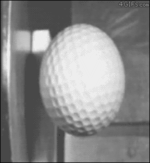rudescience: diddlemydiddlies:  aaronthespiritbear:  Golf ball hitting steel at 150mph, recorded at 70 000fps  physics is so fucked up   Physics is fine. The world is fucked up.  : 4GIFscom rudescience: diddlemydiddlies:  aaronthespiritbear:  Golf ball hitting steel at 150mph, recorded at 70 000fps  physics is so fucked up   Physics is fine. The world is fucked up.