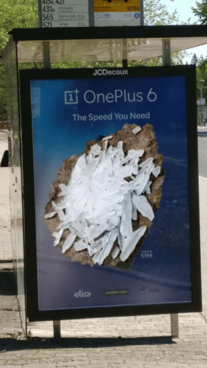 Com, Speed, and Hsl: 4I5N, 42  Elielinaukio  V1705  Espoon kesk busv  HSL  Varisto  JCDecaux  I OnePlus 6  1  The Speed You Need  Minta alt  519  oneplus.com Just what I need