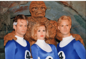 The Thing about to rape the Fantastic Four and Mister Fantastic couldn't care less: 4P The Thing about to rape the Fantastic Four and Mister Fantastic couldn't care less