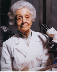 Anyone else have an Italian grandmother who looks exactly like this lady? No? Just us? This amazing scientist is Rita Levi-Montalcini and she's @Science's WCW. Born in Turin, Italy in 1909, Levi-Montalcini became a doctor and was fascinated by how the nervous system developed. After losing her assistant position at the University of Turin due to Mussolini's Manifesto of Race and her Jewish heritage, she set up a small lab in her bedroom and spent her days studying nerve development in chicken embryos. In 1986, despite all of her hardships, Levi-Montalcini and her partner, Stanley Cohen, received the Nobel Prize in Medicine for their discoveries of growth factors in cells! Not only that, but in 2009 she became the first Nobel laureate to reach the age of 100.: -4tfe, Anyone else have an Italian grandmother who looks exactly like this lady? No? Just us? This amazing scientist is Rita Levi-Montalcini and she's @Science's WCW. Born in Turin, Italy in 1909, Levi-Montalcini became a doctor and was fascinated by how the nervous system developed. After losing her assistant position at the University of Turin due to Mussolini's Manifesto of Race and her Jewish heritage, she set up a small lab in her bedroom and spent her days studying nerve development in chicken embryos. In 1986, despite all of her hardships, Levi-Montalcini and her partner, Stanley Cohen, received the Nobel Prize in Medicine for their discoveries of growth factors in cells! Not only that, but in 2009 she became the first Nobel laureate to reach the age of 100.