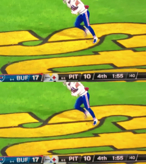 How are the Steelers handling this loss?   By doing somersaults.  https://t.co/p1SsP42ddt: 4th 1:55 :40  PIT 10  BUF 17  8-5  9-4   PIT 10 /  4th 1:55 :40  BUF 17  8-5  9-4 How are the Steelers handling this loss?   By doing somersaults.  https://t.co/p1SsP42ddt