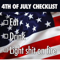 4th of July: 4TH OF JULY CHECKLIST  Light shit on fire