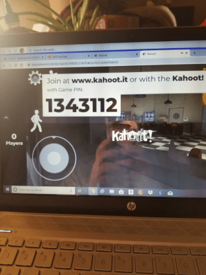 Kahoot, youtube.com, and Game: +  4X  Search the web...  K! Kahoot!  X  c  K Kahoot!  (267) YouTube  X  Grade &- Language Arts (2nd Ed  play.kahoot.it/v2/lobby?quizld-f84582c3-fb7f-4b1a-95cf-e64e07b6f620  Join at www.kahoot.it or with the Kahoot!  with Game PIN:  1343112  Katewt  0  Players  e  H  Type here to search  hp  C  ?  bo  saa  40  4+  H  144  $  4  9%  &  2  3  7  00  C  GA You wanna play?