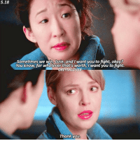 [5.18] this makes me emotional❤ — follow @damonsscenes because she deserves 6k so much❤ { cristinayang sandraoh izziestevens katherineheigl greysanatomy}: 5.18  Sometimes we win, Izzie, and I want you to fight, okay?  You know, for whatever that's worth, want you to fight.  GREYSXLOVER  Thank you. [5.18] this makes me emotional❤ — follow @damonsscenes because she deserves 6k so much❤ { cristinayang sandraoh izziestevens katherineheigl greysanatomy}