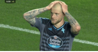 """""""His palms are sweaty, knees weak arms are heavy. He missed an open goal already, John Guidetti!"""" https://t.co/gGDIDBkbIr: 5:59 +6  5:59 +  Estrella  Galicia """"His palms are sweaty, knees weak arms are heavy. He missed an open goal already, John Guidetti!"""" https://t.co/gGDIDBkbIr"""
