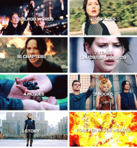 Boo, Girls, and Memes: 5.800  81 CHAPTER  4 MOVIES  TO  7 YEARS  9/08  3 BOO  FOREVERINOUR HEARTS We're gonna miss you, Girl on Fire.  ~Effie   [cr: jonesskillian.tumblr.com]