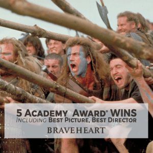"""Memes, Oscars, and Academy: 5 ACADEMY AWARD WINS  INCLUDING BEST PICTURE, BEST DIRECTOR  BRAVEHEART """"They may take away our lives, but they'll never take our freedom!"""" Revisit this classic on #Oscars weekend: paramnt.us/Braveheart"""