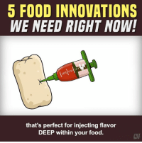 "Food, Memes, and Thought: 5 FOOD INNOVATIONS  WE NEED RIGHT NOW!  that's perfect for injecting flavor  DEEP within your food.  CTH Taking ""food for thought"" to a whole new level."
