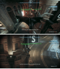 """On Batman arkham knight you see the joker randomly, some are very subtle and hard to notice: 5  LOCAL SURVEILLANCE  former warden who had a Strange turn, his appointment as mayor  WS cause for concern.  RANGE  12M  Thug: You know, it helps to unburden yourself. Before you die!  Line Launcher Perch (Hold)   56 FPS  LOCAL SURVEILLANCE  """"  former warden who had a St  was a cause for concern.  , his appointment as mayor  range turn, his appointment as mayor  RANGE  126M  Thug: We don't want money. We can go and take anything in this City we want.  Climb Down (LCtrl)+ On Batman arkham knight you see the joker randomly, some are very subtle and hard to notice"""