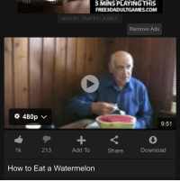 damn daddy: 5 MINS PLAYING THIS  FREE 3DADU TGAMES.COM  ADS BY TRAFFIC JUNKY  Remove Ads  480p V  9:51  213  Add To  1k  Download  Share  How to Eat a Watermelon damn daddy