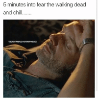Memes, The Walking Dead, and Walking Dead: 5 minutes into fear the walking dead  and ch Out cold!! thewalkingdead fearthewalkingdead