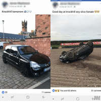 Buys Renault Clio on October 5th at 09:39AM and then rolls it by 16:14 the next day 🙈 Credit to @statesidesupercars . . carmemes racecar blacklist cargram carthrottle itswhitenoise carspotting supercar instacars carswithoutlimits carsofinstagram tuner boost turbo jdm renault knockhill: 5 Oct at 09:39 .  6 Oct at 16:14 .  Knockhill tomorrow  Good day at knockhill any clos forsale  ˊ PENTLANpr  You and 83 others  51 commer  25  11 comm Buys Renault Clio on October 5th at 09:39AM and then rolls it by 16:14 the next day 🙈 Credit to @statesidesupercars . . carmemes racecar blacklist cargram carthrottle itswhitenoise carspotting supercar instacars carswithoutlimits carsofinstagram tuner boost turbo jdm renault knockhill