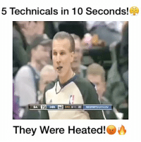 Memes, 🤖, and Technic: 5 Technicals in 10 Seconds!  SA,  They Were Heated! Do Refs Overuse Technicals?!😤👇🏻 Follow me (@DunkFilmz) for More!