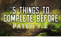 Memes, 🤖, and Git: 5 THINGS TO  COMPLETE BEFORE  PATCH T 2 With Patch 7.2 around the corner, all your to do list can feel overwhelming. Here is a simple 'Git er done' list. - Belle
