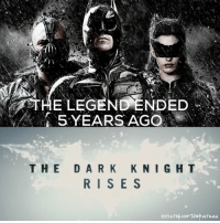 "Good Knight Gothamites! Tomorrow we'll have more Batman news from San Diego Comic Con! Today (July 20) marks the 5 year anniversary of Christopher Nolan's theatrical release of the trilogy concluding film ""The Dark Knight Rises""! Set 8 years after Joker's chaotic schemes in ""The Dark Knight"", Bruce Wayne (Christian Bale) has to return to the cape and cowl as the Batman when the emergence of terrorist Bane (Tom Hardy) threatens Gotham City. Based on several Batman comic books such as ""Batman: Knightfall"" and ""No Man's Land"", The Dark Knight Rises ended an era of the Caped Crusader that introduced the hero to many fans and is still one of the highest grossing superhero films of all time. As always, thanks for following and all of the constant support, have a great night and we will have more History of the Batman tomorrow. Remember Gothamites, it's all about Peace, Love and Batman! ✌🏼💙🦇🎬🎉: 5 YEARS AGO  THE DARK KNIGHT  RISE S  @HisTOYOF THEP ATMAN Good Knight Gothamites! Tomorrow we'll have more Batman news from San Diego Comic Con! Today (July 20) marks the 5 year anniversary of Christopher Nolan's theatrical release of the trilogy concluding film ""The Dark Knight Rises""! Set 8 years after Joker's chaotic schemes in ""The Dark Knight"", Bruce Wayne (Christian Bale) has to return to the cape and cowl as the Batman when the emergence of terrorist Bane (Tom Hardy) threatens Gotham City. Based on several Batman comic books such as ""Batman: Knightfall"" and ""No Man's Land"", The Dark Knight Rises ended an era of the Caped Crusader that introduced the hero to many fans and is still one of the highest grossing superhero films of all time. As always, thanks for following and all of the constant support, have a great night and we will have more History of the Batman tomorrow. Remember Gothamites, it's all about Peace, Love and Batman! ✌🏼💙🦇🎬🎉"