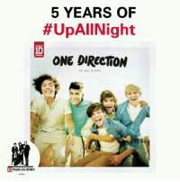 One Direction, Filipino (Language), and Int: 5 YEARS OF  #UpAllNight  ONE DIRECTION  UP ALL NIG INT  ID  MEMES OMG 😭  -1Diana xx