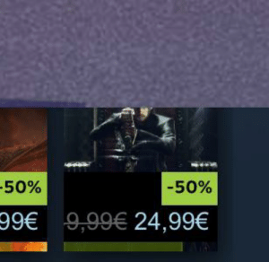One, Price, and 50-50: -50%  50%  99€ 9,99€ 24,99€ Buy one at the price of ~2.5!