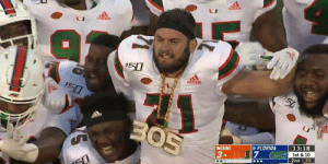 MIAMI TURNOVER CHAIN IS BACK: '50  addos  150  50  BO5  13:18  8 FLORIDA  MIAMI  1st & 10  25  3 U7  2nd MIAMI TURNOVER CHAIN IS BACK