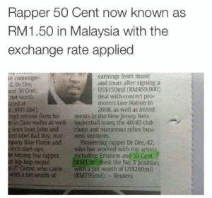 50 Cent gets lost in translation: 50 Cent gets lost in translation