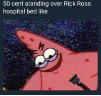 <p>GGGGGG U shouldn&rsquo;t have said that (via /r/BlackPeopleTwitter)</p>: 50 cent standing over Rick Ross  hospital bed like <p>GGGGGG U shouldn&rsquo;t have said that (via /r/BlackPeopleTwitter)</p>