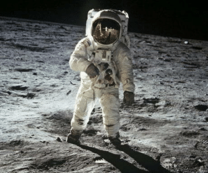 Taken, Neil Armstrong, and Buzz Aldrin: 50 years ago today, this photo of Buzz Aldrin was taken by Neil Armstrong during the first manned mission to the moon
