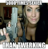 Fingering, Time, and Military: 5000 TIMES SEXIER  THANITWERKING Dat finger straight and off the trigger tho 😍