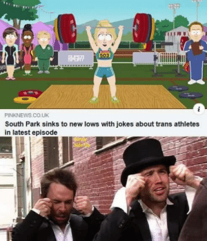 memehumor:  Olay, older generation I dont agree with: 503  PINKNEWS.CO.UK  South Park sinks to new lows with jokes about trans athletes  in latest episode  Sundy  Side memehumor:  Olay, older generation I dont agree with