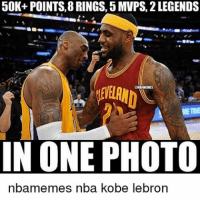 Memes, 🤖, and Photos: 50K+ POINTS, 8 RINGS, 5 MVPS, 2 LEGENDS  IN ONE PHOTO  emes nba kobe lebron Doubletap for these Goats🙌💯 TBH I don't know how Kobe doesn't have atleast 3 MVPS💀