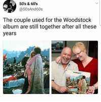 @epicfunnypage is literally the funniest page 👌🏻👌🏻: 50's & 60s  @50sAnd60s  The couple used for the Woodstock  album are still together after all these  years @epicfunnypage is literally the funniest page 👌🏻👌🏻