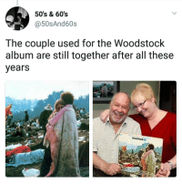 That's real. | Follow @aranjevi for more!: 50's & 60's  @50sAnd60s  The couple used for the Woodstock  album are still together after all these  years That's real. | Follow @aranjevi for more!