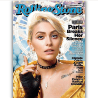 Memes, Michael Jackson, and Paris: 50th ANNIVERSARY YEAR  EXCLUSIVE  Paris  Breaks  Her  Michael  Jackson's  Daughter  on Family  Secrets  and Her  Father's Pain  Climate  Crisis:  A New  Battle  Plan  By Bill  McKibben  Mike  Pence's  Radical  Crusade ParisJackson covers RollingStone magazine